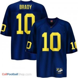 Tom Brady Michigan Wolverines #10 Football Jersey - Navy Blue