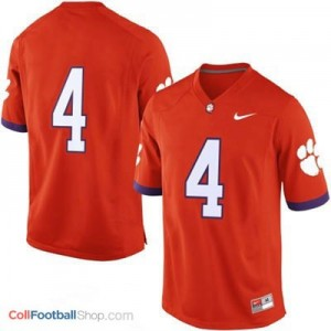 Clemson Tigers #4 Football Jersey - Orange
