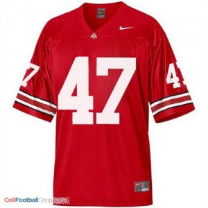 A.J. Hawk Ohio State Buckeyes #47 Youth Football Jersey - Scarlet Red