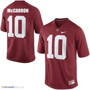 A.J. McCarron Alabama #10 Youth Football Jersey - Crimson Red