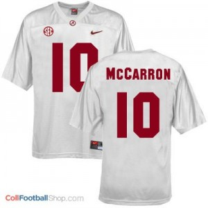 A.J. McCarron Alabama #10 Youth Football Jersey - White