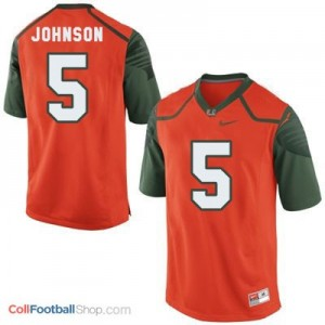Andre Johnson Miami Hurricanes  #5 Football Jersey - Orange