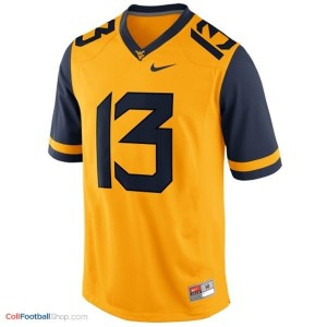 Andrew Buie West Virginia Mountaineers #13 Football Jersey - Gold