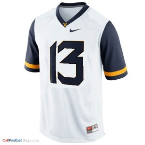 Andrew Buie West Virginia Mountaineers #13 Football Jersey - White
