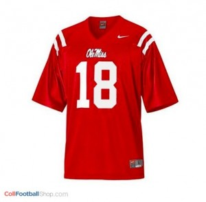 Archie Manning Ole Miss Rebels #18 Youth Football Jersey - Red