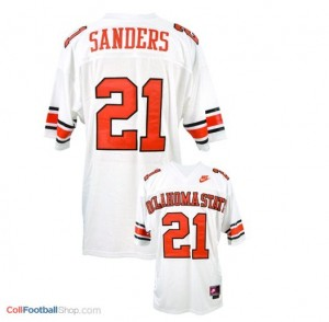 Barry Sanders Oklahoma State Cowboys #21 Football Jersey - White