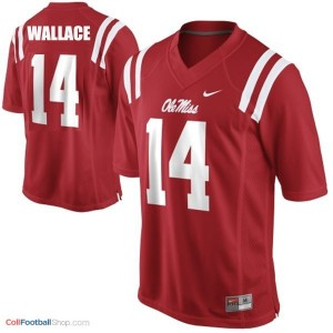 Bo Wallace Ole Miss Rebels #14 Youth Football Jersey - Red