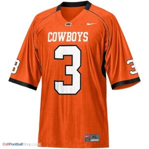 Brandon Weeden Oklahoma State Cowboys #3 Football Jersey - Orange