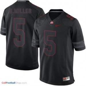 Braxton Miller Ohio State Buckeyes #5 Lights Out Football Jersey - Black
