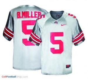 Braxton Miller Ohio State Buckeyes #5 Football Jersey - Gray
