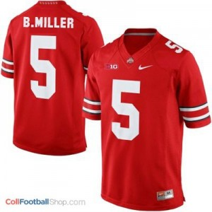 Braxton Miller Ohio State Buckeyes #5 Youth Football Jersey - Scarlet Red
