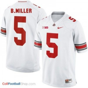 Braxton Miller Ohio State Buckeyes #5 Youth Football Jersey - White