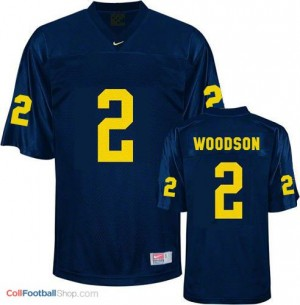 Charles Woodson Michigan Wolverines #2 Football Jersey - Navy Blue
