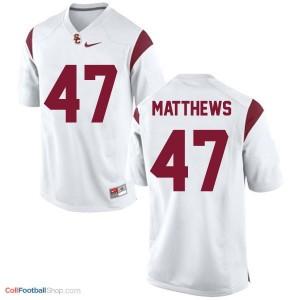 Clay Matthews USC Trojans #47 Youth Football Jersey - White