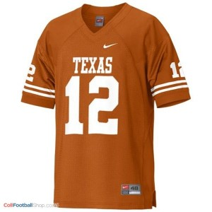 Colt McCoy Texas Longhorns #12 Youth Football Jersey - Orange