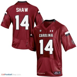 Connor Shaw South Carolina Gamecocks  #14 Football Jersey - Red