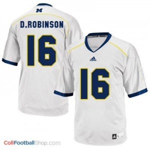 Denard Robinson Michigan Wolverines #16 Youth Football Jersey - White