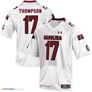 Dylan Thompson South Carolina Gamecocks #17 Football Jersey - White
