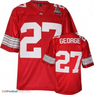 Eddie George Ohio State Buckeyes #27 Football Jersey - Scarlet Red