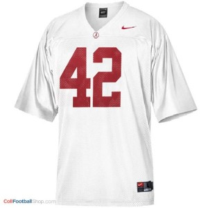 Eddie Lacy Alabama #42 Football Jersey - White