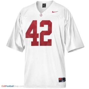 Eddie Lacy Alabama #42 Football Jersey - White