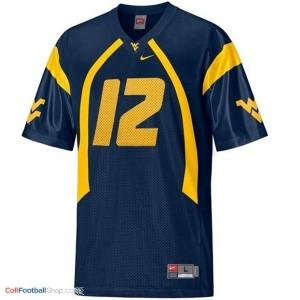 Geno Smith West Virginia Mountaineers #12 Football Jersey - Blue