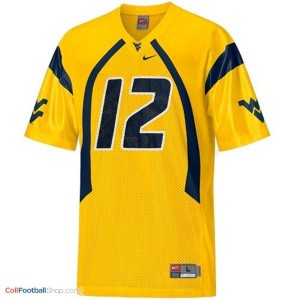 Geno Smith West Virginia Mountaineers #12 Football Jersey - Gold