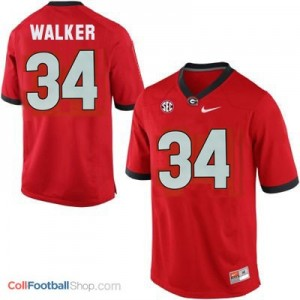 Herschel Walker Georgia Bulldogs (UGA) #34 Football Jersey - Red