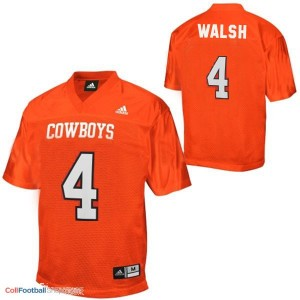 J.W. Walsh Oklahoma State Cowboys #4 Youth Football Jersey - Orange