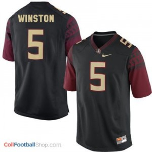 Jameis Winston 2014 Florida State Seminoles (FSU)  #5 Football Jersey - Black