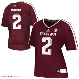 Johnny Manziel Texas A&M Aggies #2 Women Football Jersey - Maroon Red