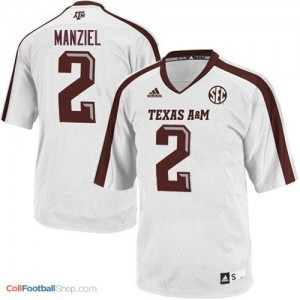 Johnny Manziel Texas A&M Aggies #2 Youth Football Jersey - White
