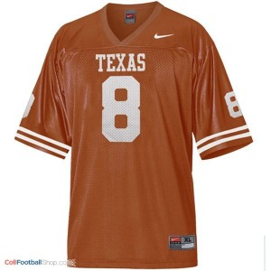 Jordan Shipley Texas Longhorns #8 Youth Football Jersey - Orange