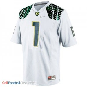 Josh Huff Oregon Ducks #1 Football Jersey - White