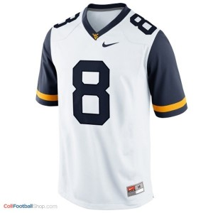 Karl Joseph West Virginia Mountaineers #8 Youth Football Jersey - White