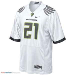 LaMichael James Oregon Ducks #21 Football Jersey - White