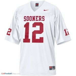 Landry Jones Oklahoma Sooners #12 Football Jersey - White