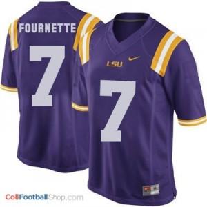 Leonard Fournette LSU Tigers #7 Youth Football Jersey - Purple