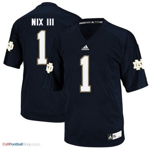 Louis Nix III Notre Dame Fighting Irish #1 Football Jersey - Navy Blue
