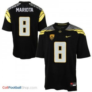 Marcus Mariota Oregon Ducks 2014 #8 Mach Speed Football Jersey - Black