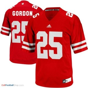 Melvin Gordon Wisconsin Badgers #25 Youth Football Jersey - Red