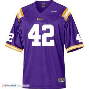 Michael Ford LSU Tigers #42 Mesh Youth Football Jersey - Purple