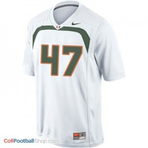 Michael Irvin Miami Hurricanes #47 Youth Football Jersey - White