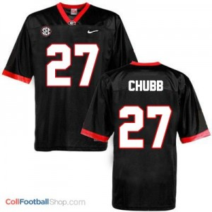 Nick Chubb Georgia Bulldogs (UGA) #27 Football Jersey - Black