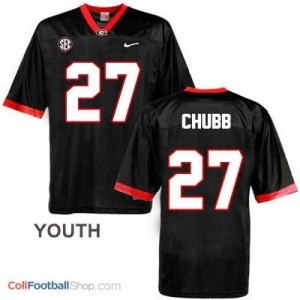 Nick Chubb Georgia Bulldogs (UGA) #27 Football Jersey - Black - Youth