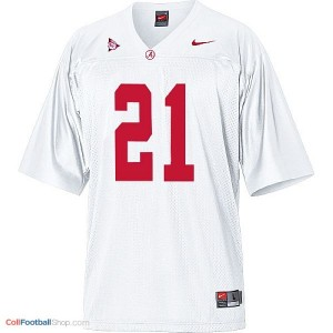 Alabama Crimson Tide Dre Kirkpatrick #21 White Football Jersey