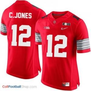 Cardale Jones OSU #12 Diamond Quest 2015 Patch Football Jersey - Scarlet