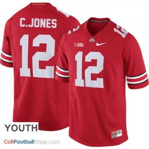 Cardale Jones Ohio State Buckeyes #12 Football Jersey - Scarlet - Youth