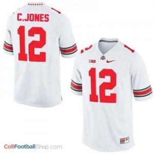Cardale Jones Ohio State Buckeyes #12 Football Jersey - White