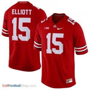 Ezekiel Elliott Ohio State Buckeyes #15 Football Jersey - Scarlet
